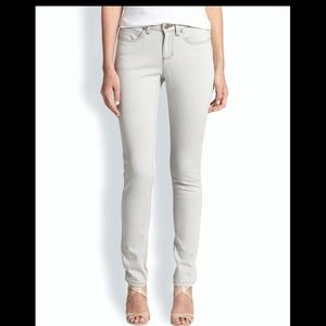 Eileen Fisher Light Gray Skinny Jeans